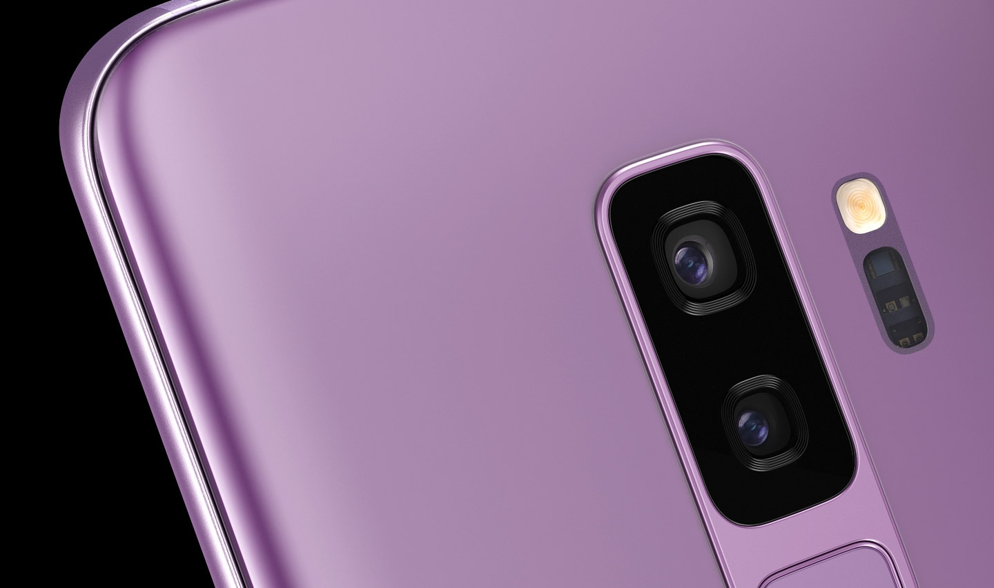 Close-up of Galaxy S9+ seen from the rear
