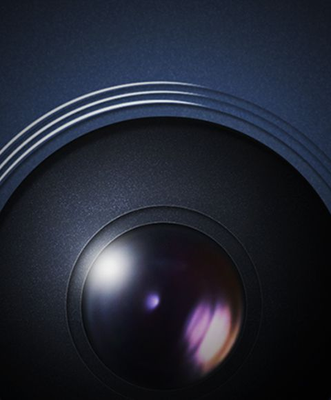 Extreme closeup of camera lens