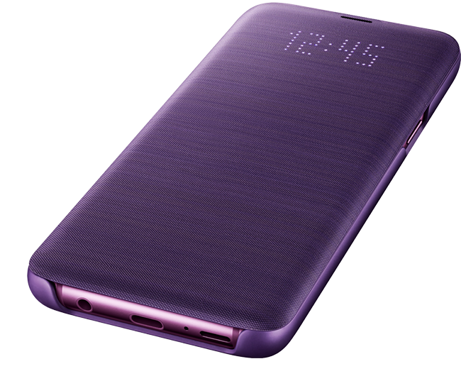 Purple: LED View Cover on purple