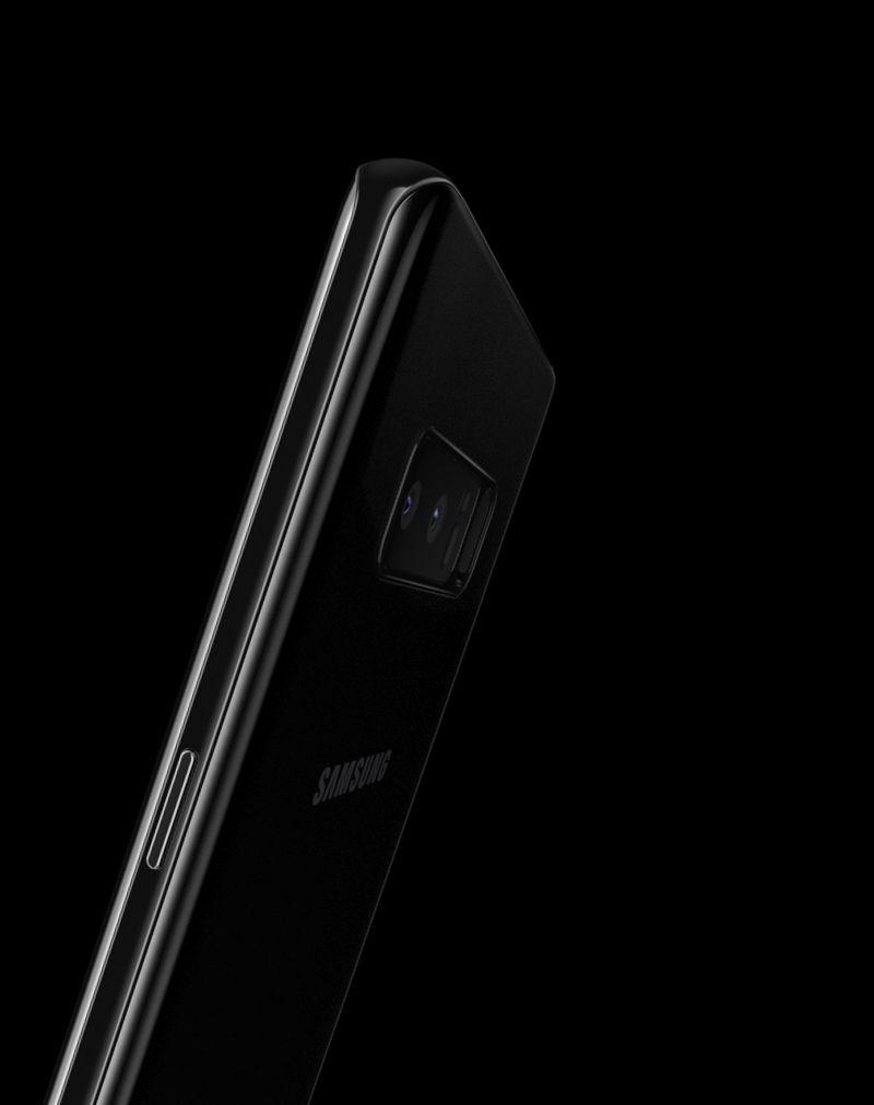 Symmetric curves of Galaxy Note 8