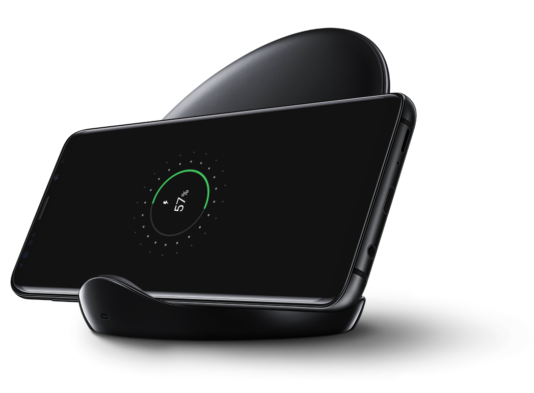 Black Wireless Charger Stand