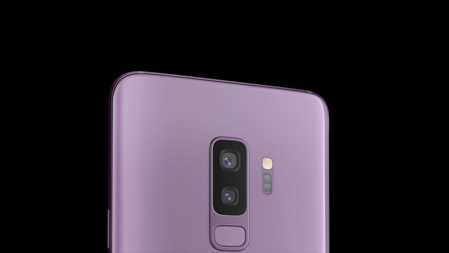 Image spotlighting the Galaxy S9+ camera